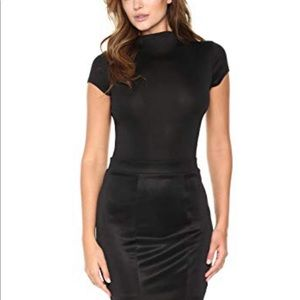NWT Soho Girls Black High-Neck Bodysuit size Small